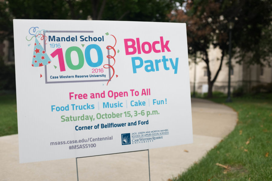 Tracey Bradnan, the director of Communications and Marketing for Mandel School, believes that by having a Block Party, everybody in Cleveland can get involved with the celebration and have fun.