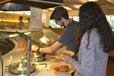 There has been student concern that Bon Appetit has served food in reduced portion.