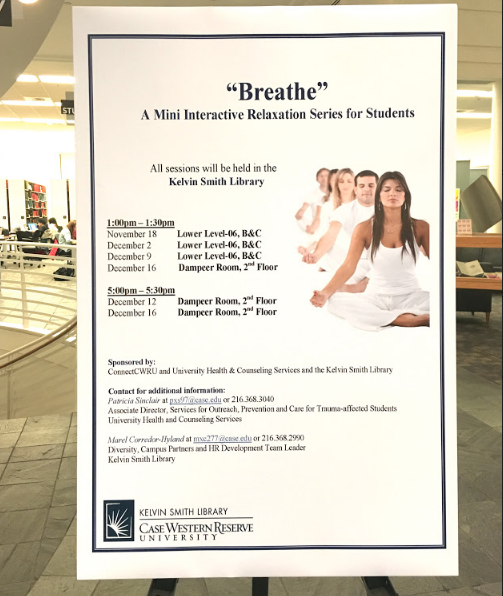 KSL will partner with UHCS to host a series of breath sessions to destress students and raise body awareness.