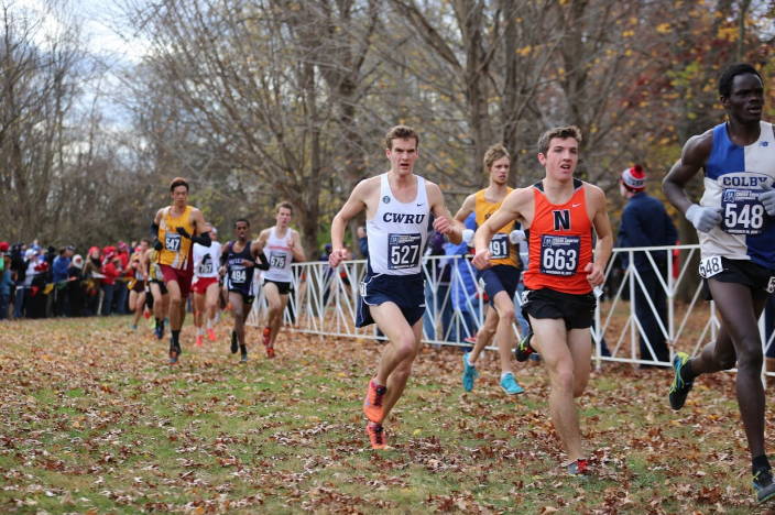 Racing+in+the+front+pack%2C+Sam+Merriman+runs+strong+in+the+NCAA+Championship+meet.+A+21st+place+finish+earned+the+third-year+student+All-America+status.