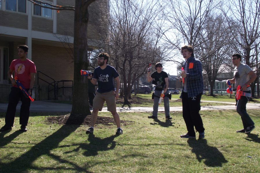 Starting this semester, the Big Game Club hosts weekly Nerf Wars as an expansion of the Humans versus Zombies game. The first game was on Feb. 19 on the Leutner Pavilion.