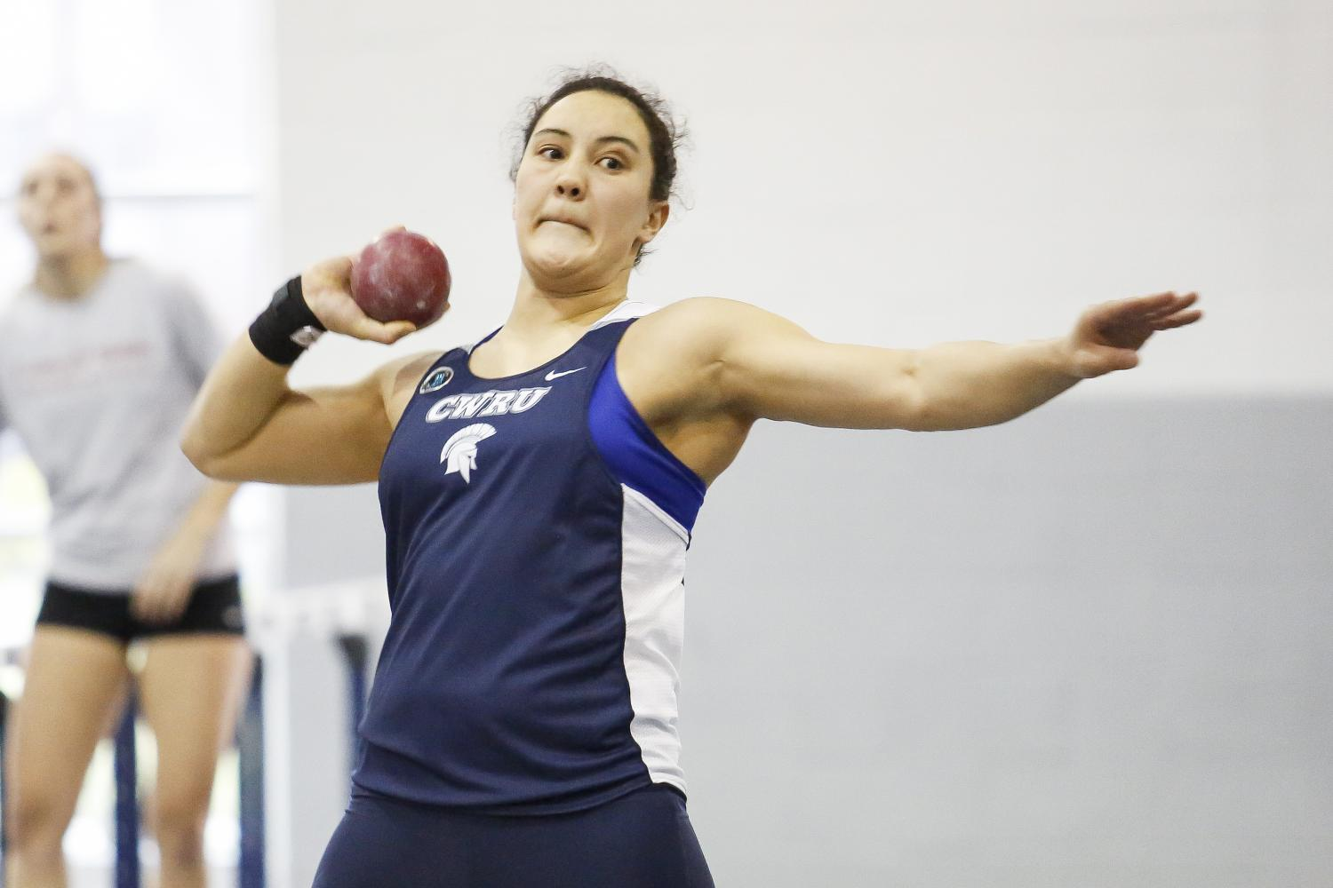 Third-year+thrower+Cassandra+Laios+%28top%29+and+fourth-year+sprinter+Nathaniel+Wahner+%28bottom%29+won+a+combined+seven+University+Athletic+Association+titles+for+the+track+and+field+team.