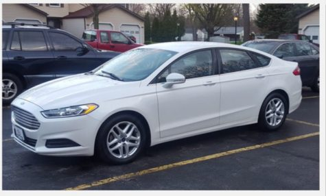 A Ford Fusion, similar to that driven by the suspect, Steve Stephens. The vehicle