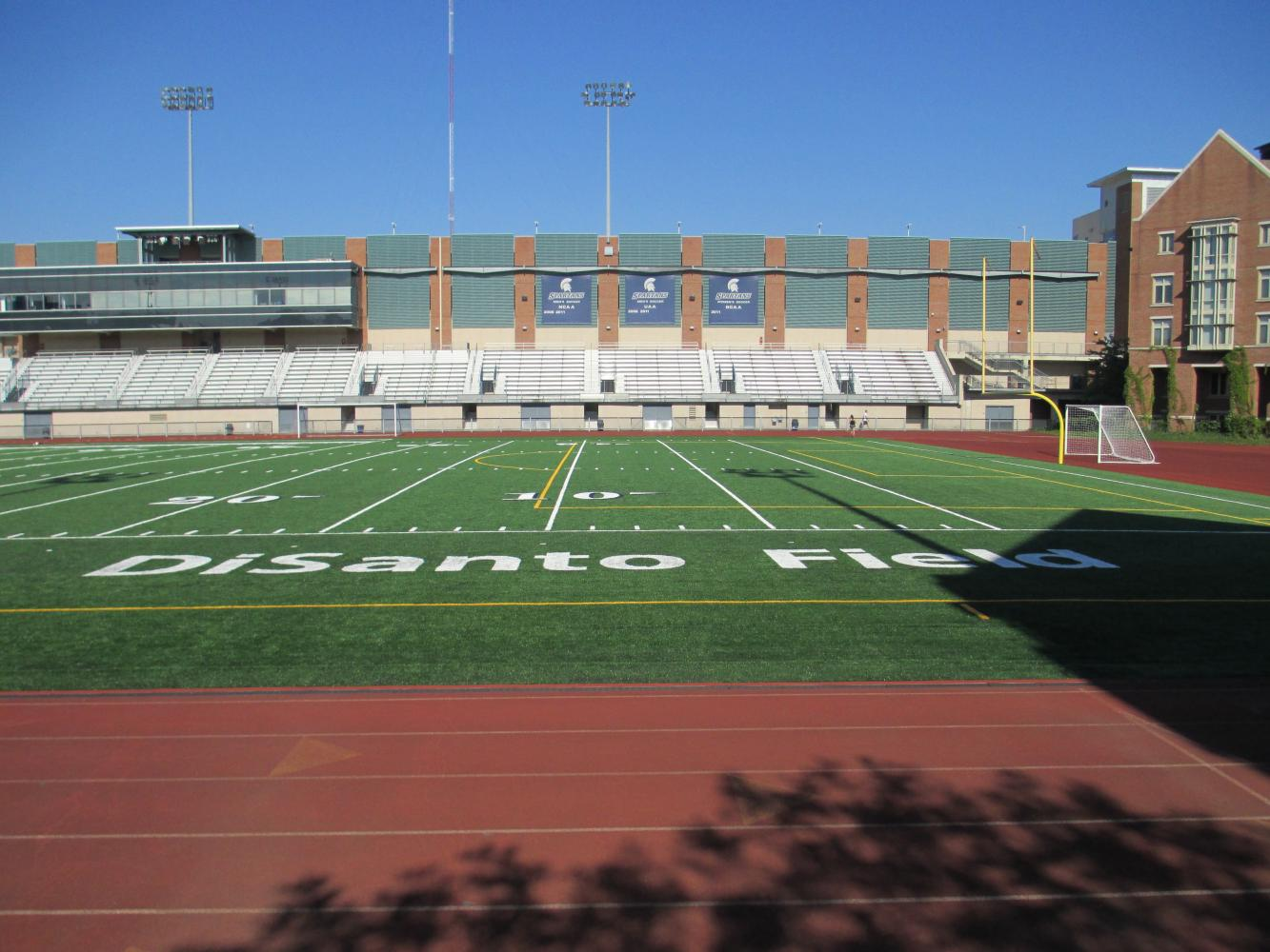 A variety of sports teams practice and play on DiSanto Field, including football, soccer and track and field.