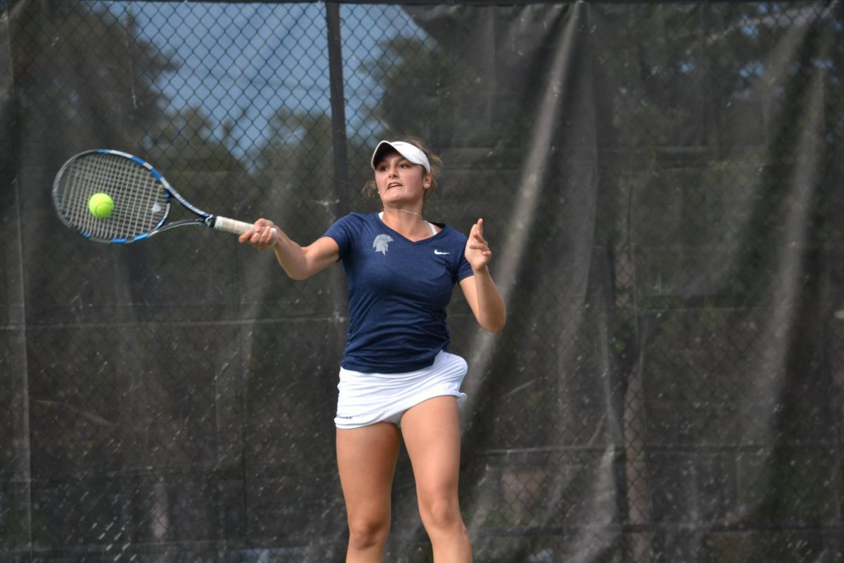 Nithya Kanagasegar (left) and Madeleine Paolucci (right) teamed up to reach the semifinals of the ITA Regional Championship.