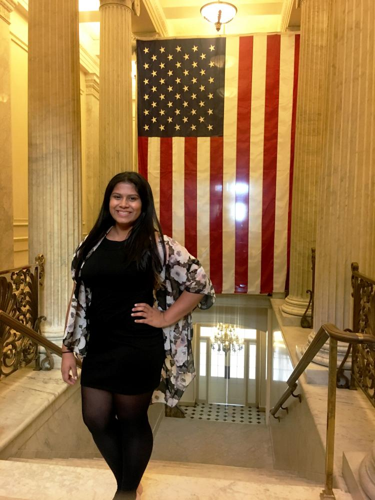 Fatima, a Case Western Reserve University first year and DACA recipient, travelled to Washington D.C. to fight against the DACA repeal.