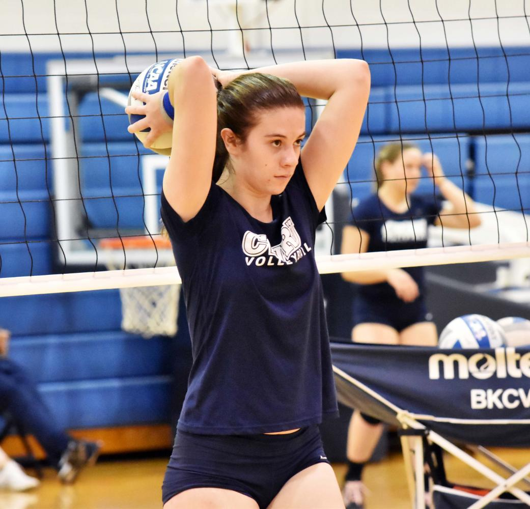 The Spartan volleyball team started conference play with a 2-1 record after completing the first round robin at Horsburgh Gymnasium.