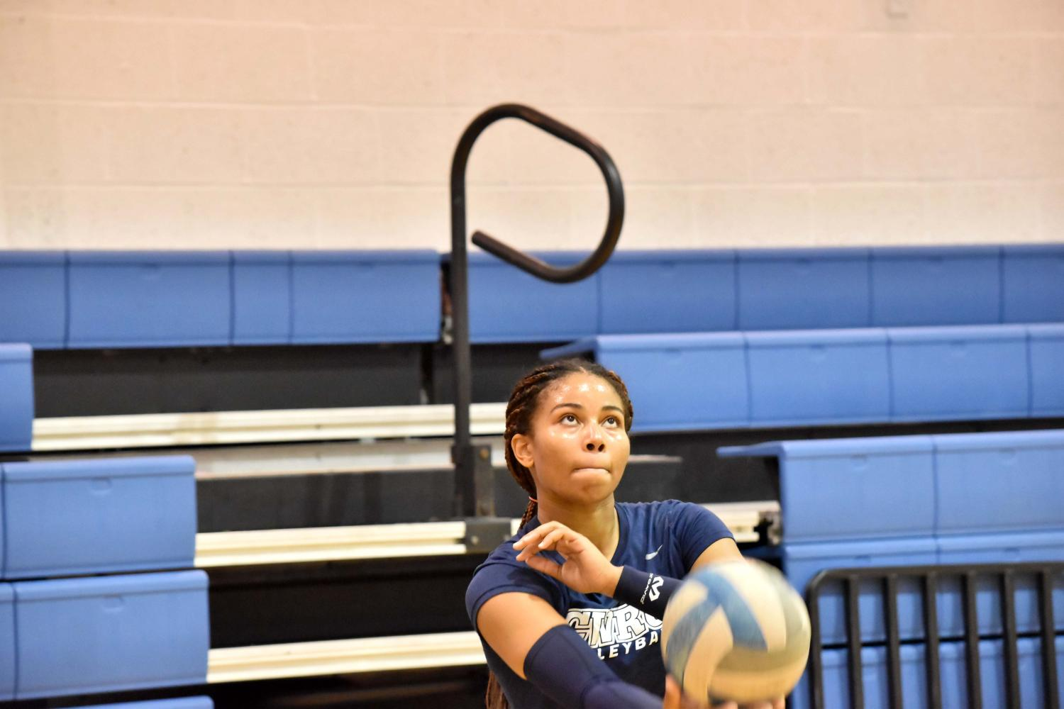 With a solid mix of personalities, the Spartan volleyball team balances each individual's strengths and weaknesses very well.