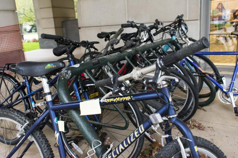 The bike racks at KSL are constantly overloaded with unused bikes. The ongoing problem of abandoned bicycles is difficult to solve.
