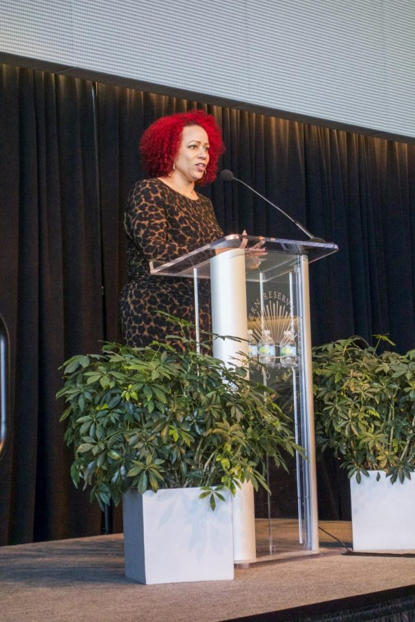 Nikole Hannah-Jones, journalist for the New York Times Magazine, spoke at the Martin Luther King Convocation on Friday, Jan. 19.