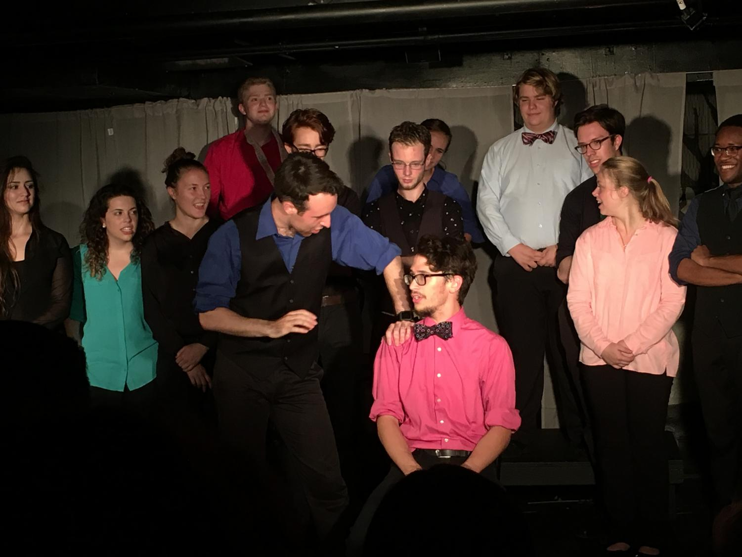 IMPROVment performs at their weekly shows in the Eldred Black Box Theater.