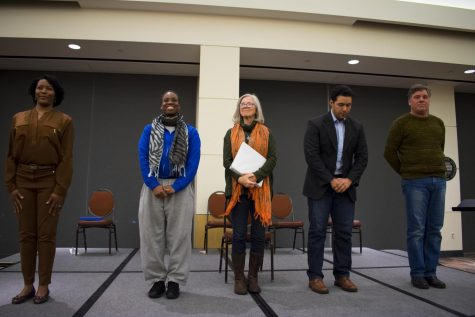 Participants of the annual Cleveland Humanities Festival (CHF) engage in a staged reading related to the festival's theme,