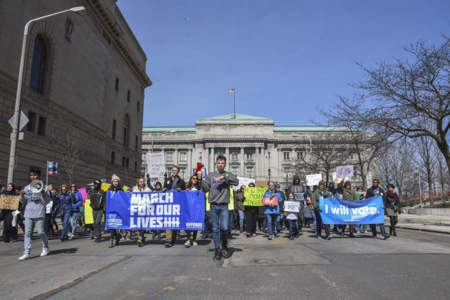 Thousands of people gathered at Cleveland's Public Square for the national March for Our Lives movement on Saturday, March 24. Protests across the country rallied against gun violence, calling on law makers to advocate stricter gun regulations.