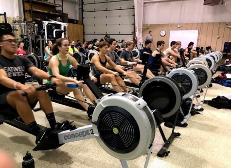 Indoor training is important, but it involves less face-to-face interaction with other members of the rowing team.