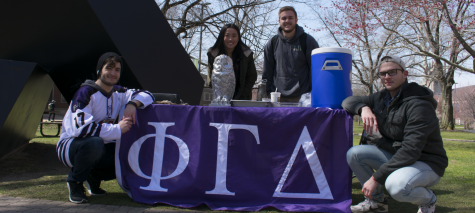 """The brothers of Phi Gamma Delta are raising money for """"graduate brother"""" Hugh Marshall's pancreatic cancer treatment."""