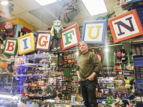 After 27 years, Stever Presser (above) is closing Big Fun Toy Store.