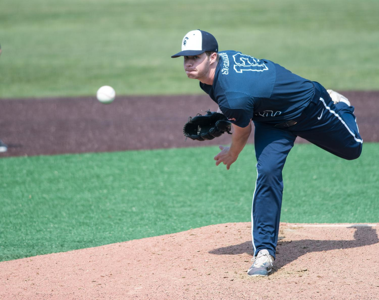 The baseball team moved up to No. 10 in the Division III rankings with a dominant performance over New York University.