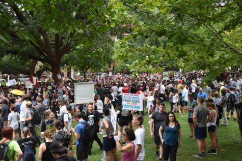 Alt-right protestors gathered in Washington, D.C. to mark the one-year anniversary of 2017's Unite the Right rally in Charlottesville. While a large crowd was anticipated, the number of counter protestors far exceeded that of the Unite the Right movement.