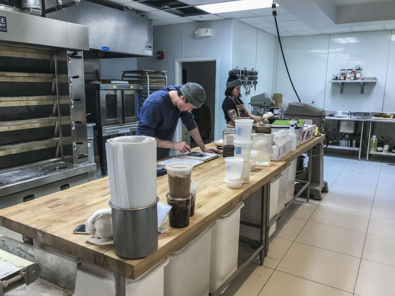 Fluffy Duck Cafe owner Ben Woods and baker Ange Lupica start baking at 2:30 a.m., at their location near the Cleveland Clinic.