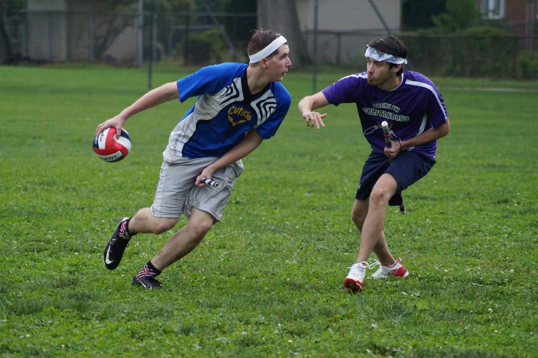 The Quidditch club brings the fictional Harry Potter sport to life, even competing against other schools. In addition to the sport, the club throws an annual Yule Ball that students can purchase tickets for. // The team competes in tournaments across the region, facing other schools who share the fictional game. CWRUcio has beaten both Indiana State and Oberlin this season.