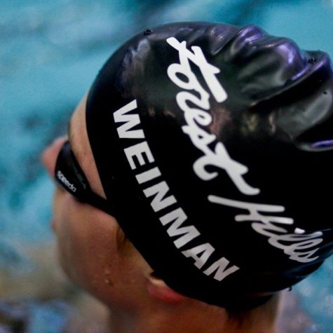 Second-year swimmer finds his poker face