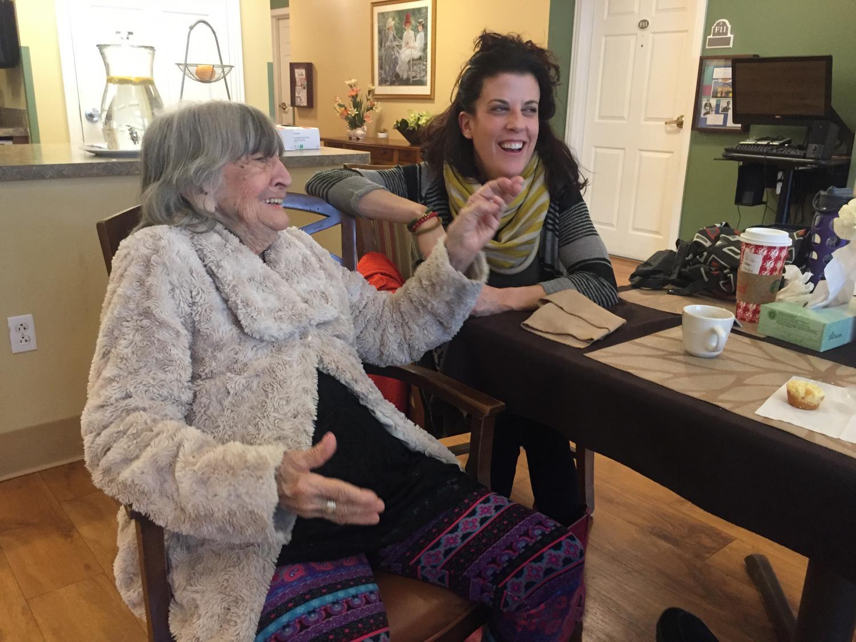 Reta Fiorelli and her granddaughter, Jennifer Coakley