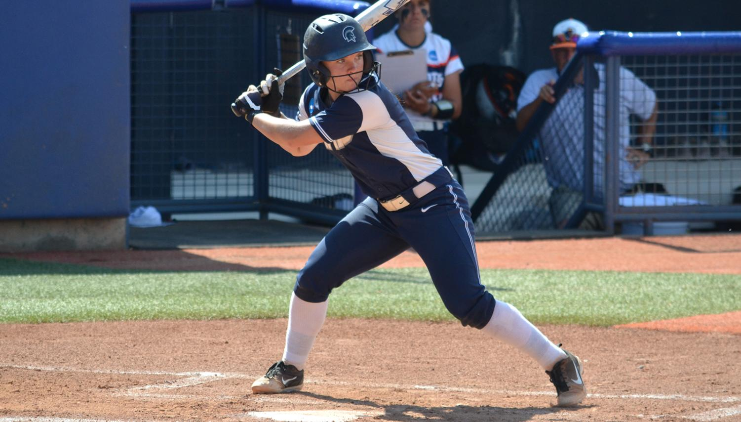 Fourth-year student Nicole Doyle steps up to the plate to bat. The Spartans have opened their season with a .500 record through their first 10 games and recently traveled to Arizona for their spring break trip, which they finished with a 4-2 record.