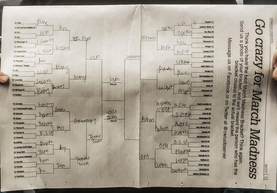 March+Madness+brackets+are+a+ritual+for+many.+Above+is+just+one+of+the+many+brackets+that+have+been+created+this+year.