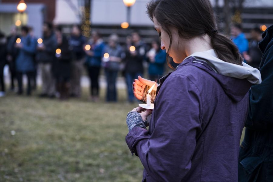 The candlelight vigil held for victims of the New Zealand shooting at Wade Oval