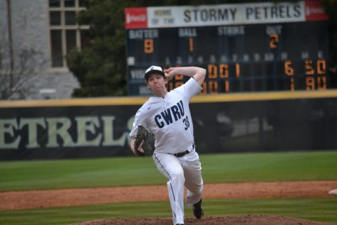 Third-year southpaw Scott Kutschke throws a pitch for the Spartan baseball team.