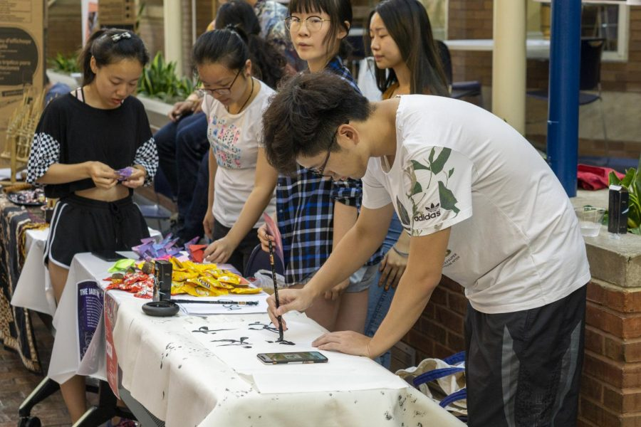 Students enjoy the events offered at the Asian Mid-Autumn Fest
