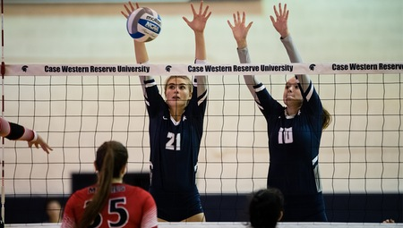 The women's volleyball team won on Friday at Horsburgh Gymnasium, but lost twice on Saturday.