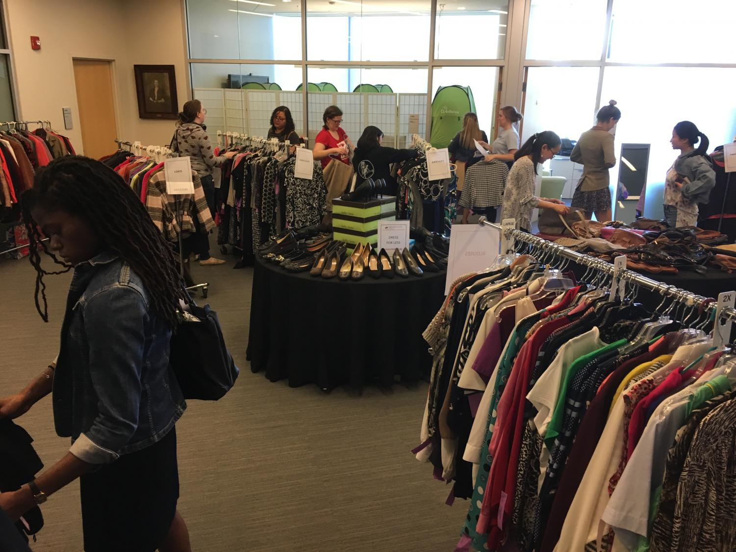 Dress for Less sells business professional clothing to students