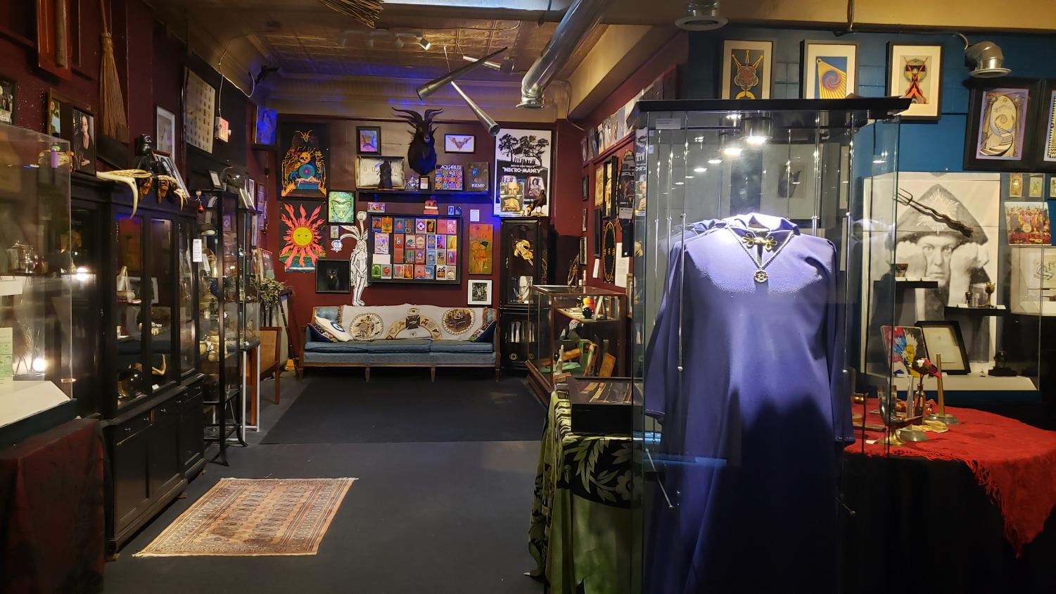 The Buckland Museum of Witchcraft and Magick began as the private collection of Raymond Buckland, the founder of American Wicca whose robe is pictured here.