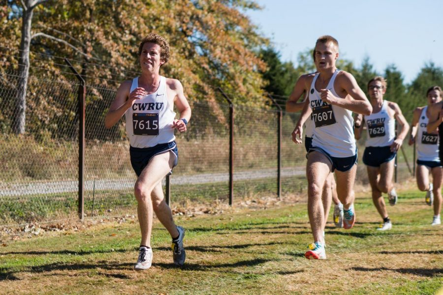 David Hall (left) and Jack Begley (right) power through their race.