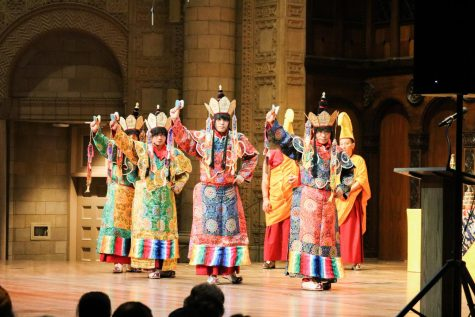 Bhangra displays their full range of skills at the Andaaz Indian cultural dance show.