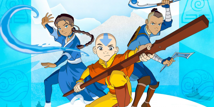 Aang, Katara and Sokka face off against evil.