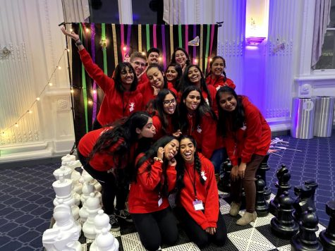 The executive board of Samāsana at a mixer with all competing teams the night before the competition.