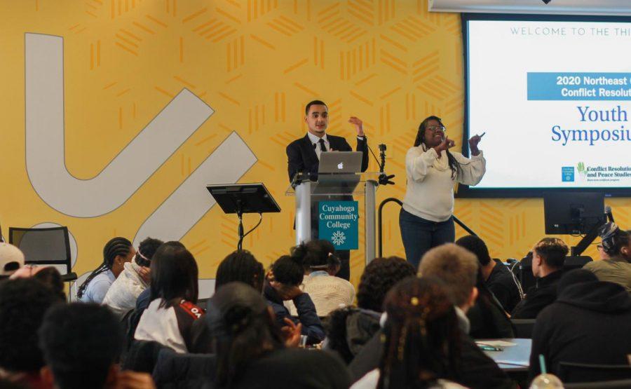 Kevin Jones speaks at Tri-C youth symposium