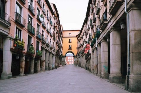 The desolate Plaza Mayor was once bustling with life.