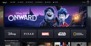 """Onward"" was released on the Disney+ streaming service one month after being released in theaters"