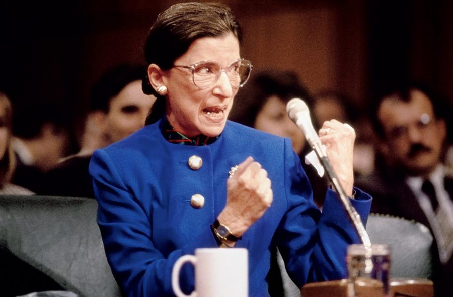 Ginsburg putting up a fight during her Supreme Court confirmation hearing in 1993.