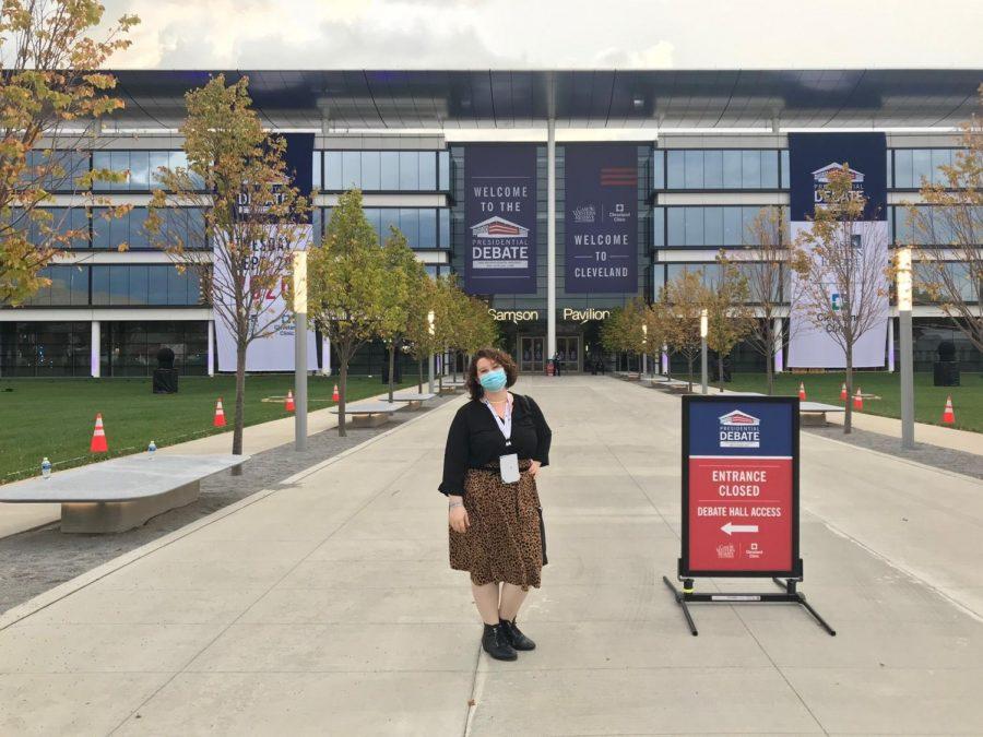 Follow Hannah Allen behind the scenes of the CWRU-hosted presidential debate.