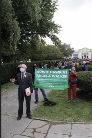 Green Party presidential candidate Howie Hawkins was disappointed that he wasn