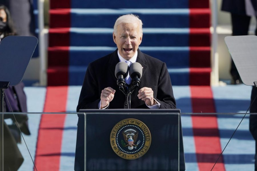 President Biden speaks at his inauguration last week after winning more than 81 million votes in the 2020 election.