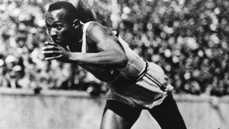 Jesse+Owens+sprinted+in+three+events+and+competed+in+the+long+jump%2C+winning+gold+in+all+of+them+at+the+intense+and+racially+charged+1936+Berlin+Olympics.+