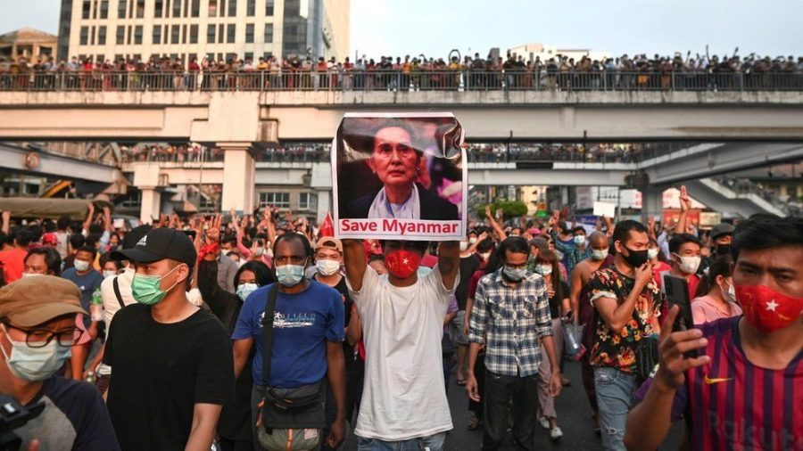 Thousands of people take the streets of Myanmar to protest the military coup, despite attempts to silence them.