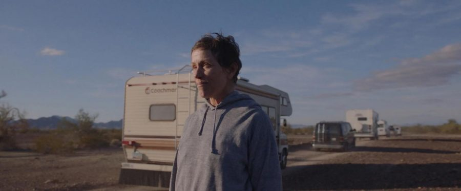 Nomadland stars Frances McDormand as Fern in this American story of poverty and persistence.