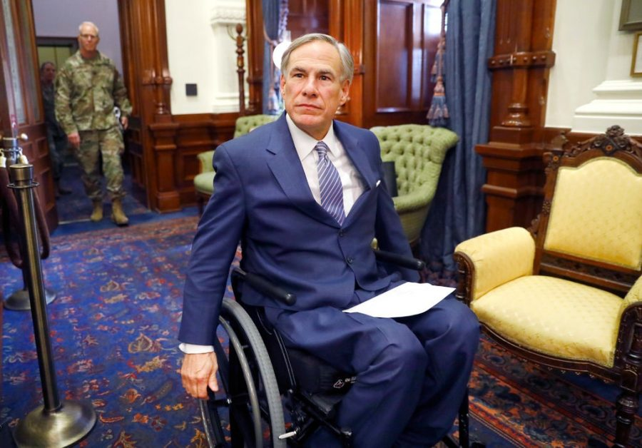 Greg+Abbott%2C+the+governor+of+Texas+since+2015%2C+is+known+for+pushing+conservative+policies%2C+and+his+poor+handling+of+the+pandemic+and+recent+power+outages+have+resulted+in+pushes+to+vote+him+out.