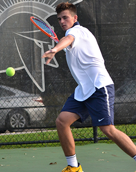 Second-year James Hopper has had a monster season, winning all his singles and doubles matches thus far.